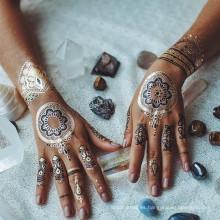 Tatuaje de henna tatuaje temporal papel