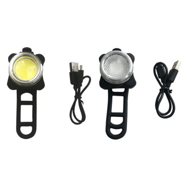 COB Led USB Rechargeable Bike Light Set