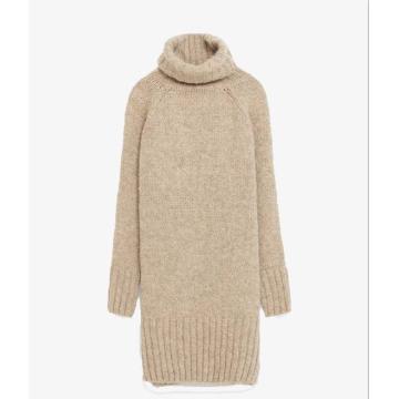 Suéteres de cashmere feminino com gola alta