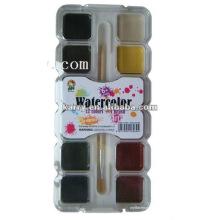 12c 20mm carré peinture sèche de couleur de l'eau sèche