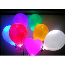 Pacote 5 misturado Illoom balões com brilho luz conduzida 15hrs
