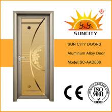 Hot Sale Bedroom Doors Design Aluminium Frosted Glass Door