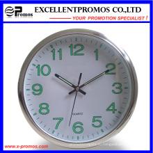 Светящаяся 12-дюймовая печать логотипа Круглые пластиковые настенные часы (EP-Item12)