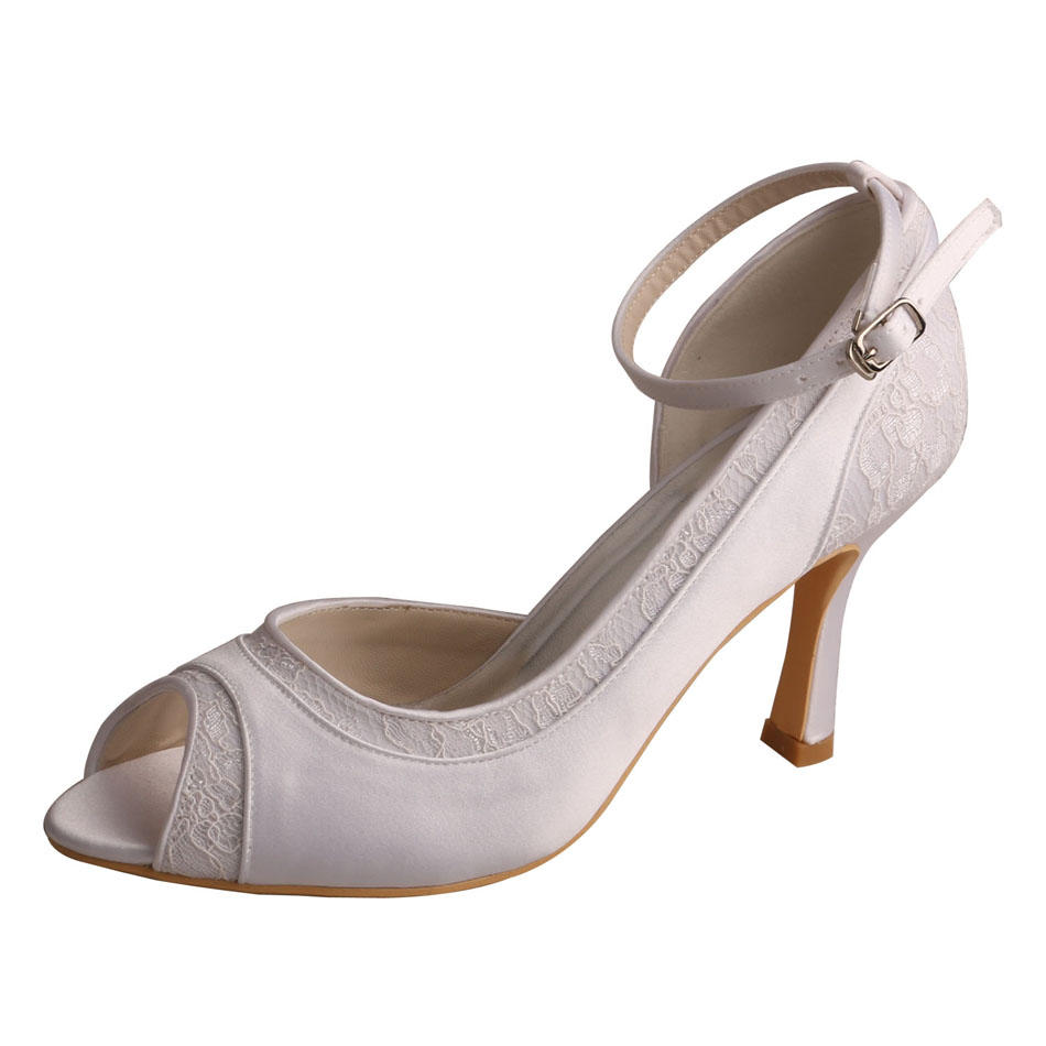 Peep Toe Shoes Bride