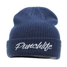 пользовательские wholeslae мода высокое качество создать свой собственный логотип вышивка зима вязаный шерстяной шляпа для мужчин