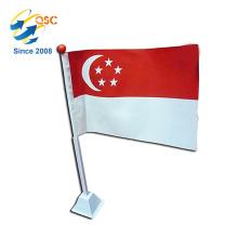 Wholesale Promotional custom mini flags singapore National Flag