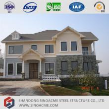 Estrutura de aço leve pré-fabricada Townhouse