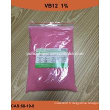 Vitamine B12 Avec Aliment Niveau 1%, 2%, 5% VB12 Vitamine Poudre