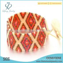 Schönes Böhmen Samen Perlenwickel Armband, handgefertigte Armbänder für Frauen