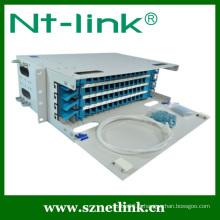 Panneau de raccordement fibre optique externe 19 pouces 24 cœurs