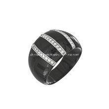 Bague en bijoux en argent sterling et en céramique (R210049)