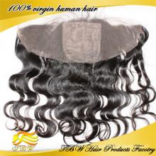 100% снять отработку человеческих волос полный шнурок шелковый топ фронтальная / frontal шнурка с шелковой база