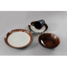 16pcs crackle and tiger skin glaze stoneware dinner set