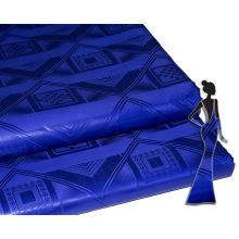 Jacquard Africain Tissu Matériel Autriche Qualité Bleu Royal Bazin Riche Tissu Guinée Brocade Styles Pour Dames avec Parfum