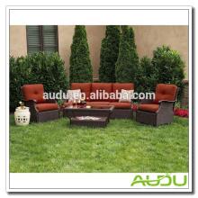 Audu Seattle Patio Garden Rattan Открытый плетеный диван
