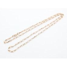 Vente en gros de bijoux en plaqué or en acier inoxydable chaîne texturée