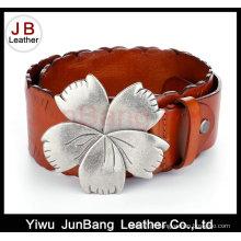 Cinto de couro luxuoso de moda de borboleta exótica