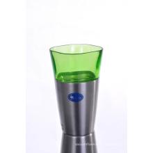 Tasse d'aspirateur de bière en acier inoxydable de haute qualité SVC-400pj vert