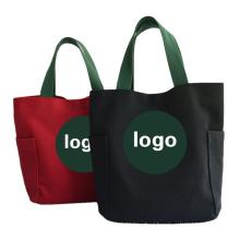 Wholesale custom personal LOGO reusable canvas  bag ECO- friendly cotton shopping Tote Bag