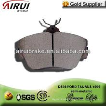 D598 FORD TAURUS semi-metallic brake pad with free sample