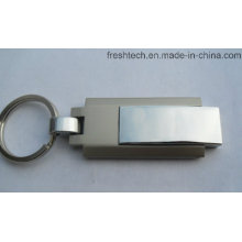 Hot Selling Metal Keyring Swivel USB Flash Drive (D309)
