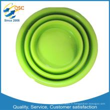 Tasse de silicone pliable colorée d'OEM de haute qualité