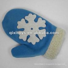 gants en peluche de neige de coton