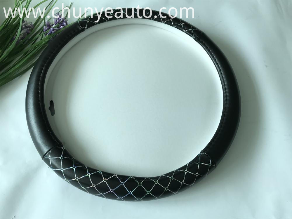 soft pu steering wheel cover