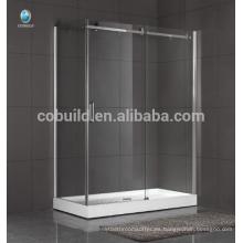 K-558 moderno diseño de cabina de ducha de baño sin marco de cristal baño de pared sin marco