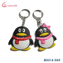 Pingouin Animal mignon forme 3D Soft PVC Keyring
