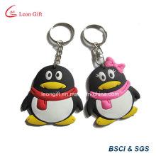 Милые животные пингвин формы 3D мягкая ПВХ Keyring