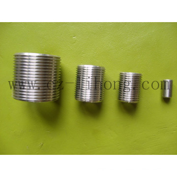 """Stainless Steel 1/8"""" DIN 2999 Close Nipple From Pipe"""