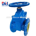 With Price 50mm Cast Iron Pn16 Dn100 Water Din 3352 F4 Resilient Seated Gate Flanged Valve