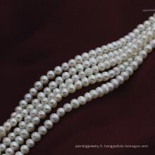 Petite taille 3mm Naturel Forme arrondie Perles de perles d'eau douce
