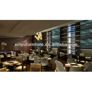 restaurant interior design table&booth&chair XY0808