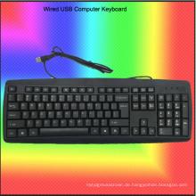Rock Bottom Price verdrahtete USB-Computer-Tastatur (KB-1805)