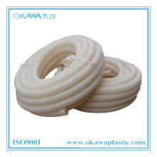 White PVC Corrugated Conduit Hose