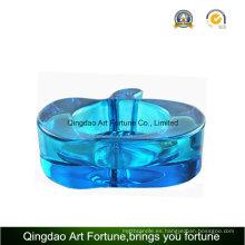 Color azul manzana titular de la vela para la decoración diaria