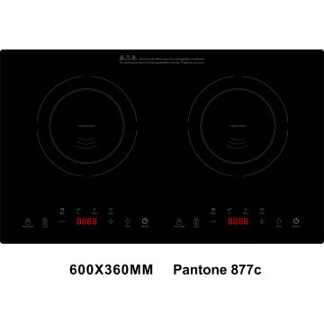 ETL cETL 120V 1800+1800=1800W Double Burners Induction Cooktop Model SM-DIC16
