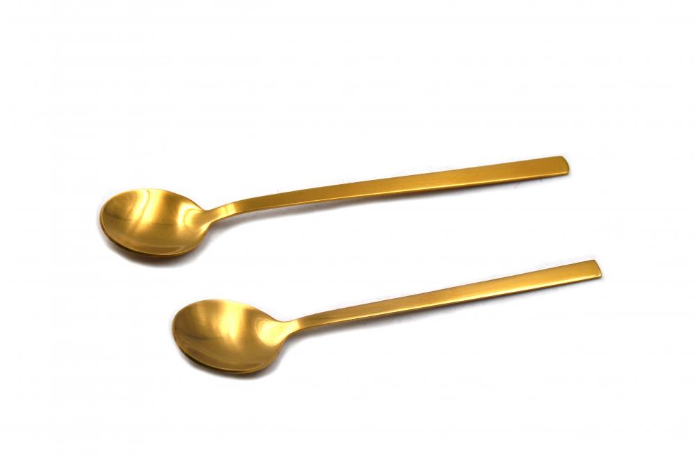 High Quality Golden Color Stainless Steel Soup Spoon