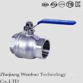 Válvula de bola del flotador de la presión media del acero inoxidable de 2PC Corea
