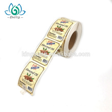 Private Design Printing Self Adhesive Waterproof Food Vinyl Custom Sticker