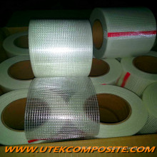 Malha de fibra de vidro 55GSM com PET Fiberglass para FRP