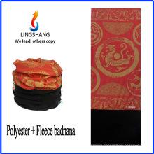 LINGSHANG seamless bandana custom bandana prints fabric polar fleece multifunctional bandana