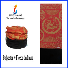 Bandana de LINGSHANG bandana personalizado bandana imprime bandana multifuncional de lã polar de tecido