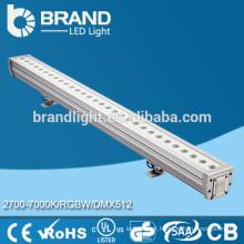 Epistar LED Chips RGB 12 * 3W endereçável DMX LED Wall arruela com tela CE RoHS