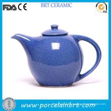 Blue Glazed Novelty Ceramic Tea Pot