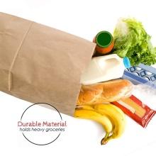 Customized take away food bag fashion shopping bag brown kraft paper bags