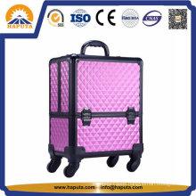 Waterproof ABS Diamond Trolley Makeup Case