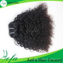 Mongoline Афро Кудрявый Вьющиеся Волосы Девственницы Выдвижения Человеческих Волос